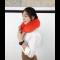 หมอนรองคอ รูปตัว U สีแดง ปัก Love นุ่มนิ่ม เหมาะสำหรับเดินทางไกล พร้อมส่ง