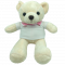ตุ๊กตาน้องหมี 12 นิ้ว D.I.Y  ให้เลือก พร้อมชุดตัวรีด D.I.Y. แถมฟรี 1 แผ่น ในกล่อง พร้อมส่ง สีขาวครีม