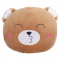หมอนซุกมือคละแบบหน้าสัตว์ หน้าหมี  หมอนพกพา หมอนเดินทาง ขนาด 40x45 ซม. สีน้ำตาล หน้าหมี