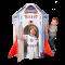 5512 ยานอวกาศ กระดาษแข็งแบบแข็งแรงพิเศษ พับเก็บได้หากเลิกเล่น Rocket & Astronaut Indoor Playset