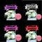 ป้ายHappy Birthday หัวใจ กากเพรช (10ชิ้น)