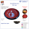 Round Bowl Size 8 inch Black-Red (1 Pcs)