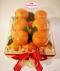 RB073  กระเช้าส้มฮันนี่เมอร์คอตในกล่องไม้สน