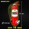 """ถังดับเพลิง สีแดง """"ชนิดผงเคมีแห้ง""""สูตรพิเศษ (ขนาด 10 ปอนด์) ดับไฟ A B (C)"""