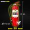 """ถังดับเพลิง สีแดง """"ชนิดผงเคมีแห้ง""""สูตรพิเศษ (ขนาด 20 ปอนด์) ดับไฟ A B (C)"""