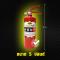 """ถังดับเพลิง สีแดง """"ชนิดผงเคมีแห้ง""""สูตรพิเศษ (ขนาด 5 ปอนด์) ดับไฟ A B (C)"""