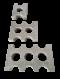 หวีคอนกรีตรองท่อ HDPE มาตราฐานการไฟฟ้า แคล้มล็อคท่อ HDPE (HDPE Spacer Block, Concrete Spacer Block for HDPE, Duct Bank Concrete Spacers) (Concrete Spacer Block for 63,140 mm HDPE Conduct)