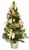 """14"""" Christmas Tree Decor with Bows and Ornaments"""