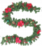 9ft Christmas Garland with Berries and Balls, Pine Cone,Poinsettias