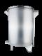 SS Mobile Garbage Bin, Foot Pedal 60 Liters
