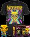 Funko Pop! Tee Box Set : Blacklight X-men Wolverine