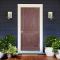 LeoDoor : ประตูไม้ ลูกฟัก 2 ตรง-สยาแดง (ไม่ทำสี)