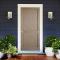 ประตูไม้ภายนอก ประตูลูกฟัก 2 ตรง วีเนียร์สัก (ไม่ทำสี) ขนาด 80x200 ซม.