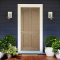 LeoDoor : ประตูลูกฟัก 4 โค้ง สัก (ไม่ทำสี)