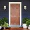 ประตูไม้ภายนอก ประตูลูกฟัก 6 ตรง สยาแดง (ไม่ทำสี)