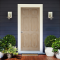 LeoDoor : ประตูไม้ ลูกฟัก 6 ตรง สัก (ไม่ทำสี)