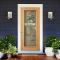 ประตูกระจกนิรภัยเต็มบาน วีเนียร์สัก LeoDoor-Duo ลาย 02