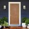 LeoDoor : ประตูไม้ ลูกฟัก 2 โค้ง สยาแดง (ไม่ทำสี)