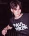 PAUL DIREK 100% Premium Cotton Logo Print    T-Shirt