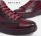รองเท้าบู้ทหนังแท้สีน้ำตาลแบบผูกเชือก รองเท้าผู้ชาย   Playtime Leather Ankle Boot Sneaker in Maroon Red