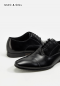 BLACK OXFORDS CAPTOE LEATHER SHOES GoodYear Welted Leather Shoes