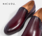 VENEZIA CLASSIC LEATHER LOAFERS SHOES Red Wine Leather Loafers