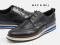 รองเท้าผู้ชายหนังแท้แบบผูกเชือกลำลองและทางการสีดำ MAC&GILL wingtip Derby sports leather shoes