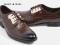 รองเท้าผู้ชายแบบทอผูกเชือก รองเท้าหนังแท้แบบทางการและออกงาน Premium Croc-Skin Gilded-Steel