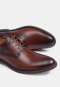 MEDALLION TOE DERBY GENUINE LEATHER LACED UP SHOES PATINA