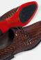 รองเท้าหนังแบบผูกเชือก Brown business Shoes in Woven Leather