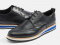 BLACK WINGTIP DERBY SNEAKERS