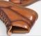 รองเท้าบู้ทหนังแท้สีน้ำตาลแบบผูกเชือก รองเท้าผู้ชาย แบบทางการและออกงานหรู