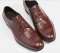 CROC DERBY Leather Laced up Business Shoes