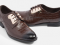 Mac & Gill รองเท้าแบบผูกเชือก Croc-Skin Gilded-Steel