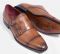 LEATHER DOUBLE BUCKLE SHOES GOODYEAR WELT