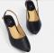 รองเท้าผู้หญิงส้นเตี้ยสีดำ Meronezzi