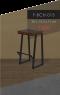 Bar Chair 4 เก้าอี้บาร์ เบาะ 4 เหลี่ยมผืนผ้า
