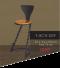 Bar Chair - Spiral  เก้าอี้บาร์ขาเกลียวมีพนัก