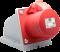เต้ารับกลางทาง 32A 230V 3Pin สีแดง