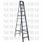บันไดพับอลูมิเนียมทรงA  Newcon มาตรฐาน สีดำ ขนาด 11 ฟุต
