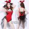 [[สินค้าหมด]] ชุดแฟนซี cosplay ชุดคอสเพลย์ แฟนซี ชุดกระต่าย บันนี่ Bunny Bunnygirl ชุดกระต่ายสีแดงผ้ากำมะหยี่