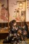 [[สินค้าหมด]] ชุดแฟนซี cosplay ชุดคอสเพลย์ ชุดญี่ปุ่น กิโมโน สีดำลายดอก