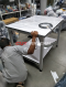โต๊ะระบบลมดูด เพื่อล๊อกชิ้นงานให้อยู่กับที่  ปรับแรงลมได้ สั่งทำตามขนาดที่ต้องการ