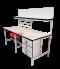 โต๊ะเอนกประสงค์ พร้อมชั้นวางงาน + ที่แขวนกระดาษ A4 มีลิ้นชัก 3 ชั้น ในตัว สามารถวางComputer