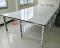 โต๊ะตัดผ้าชนิดธรรมดา หน้าไม้เคลือบแผ่นโฟเมก้า-ขาว, ขอบStainless Model :TM-01Fs