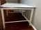 โต๊ะตัดขนาดเล็กชนิดธรรมดา หน้าไม้เคลือบแผ่นโฟเมก้าสีขาว ขอบพลาสติก Model : TM-02Fp