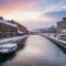 Otaru Canal in Winter Moring, Hokkaido, Japan