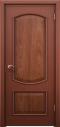 ประตูไม้แดงเอ็นจิเนียร์บานลูกฟัก2ช่องโค้ง(ไม่ทำสี) 90x200 ซม.