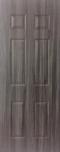 ประตู uPVC รุ่นภายใน EXTERA ลายไม้ สี Smoky Grey ลูกฟัก 6 ช่องตรง