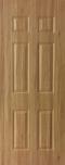 ประตู uPVC รุ่นภายใน EXTERA ลายไม้ สี Yellow Ash ลูกฟัก 6 ช่องตรง